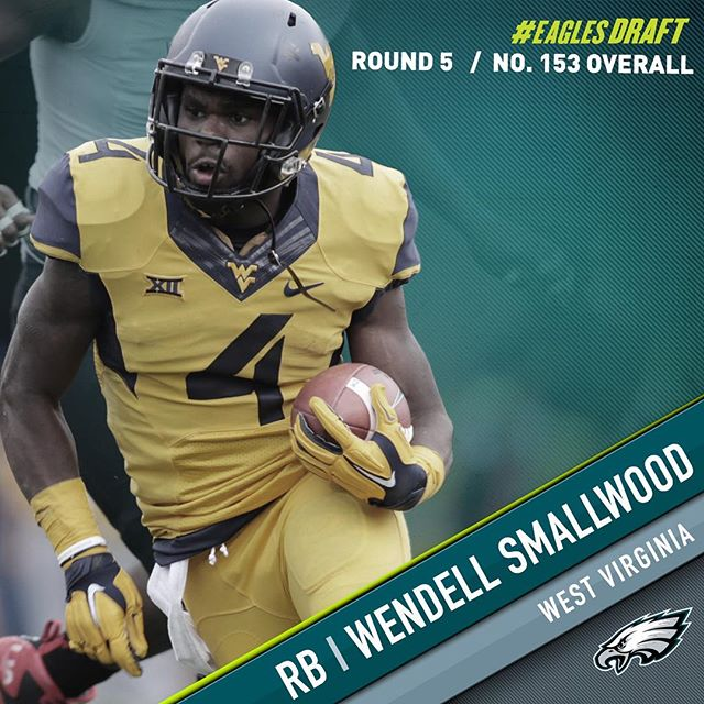 With the 153rd pick in the 2016 NFL Draft, the select RB Wendell Smallwood. Welcome to Philadelphia!