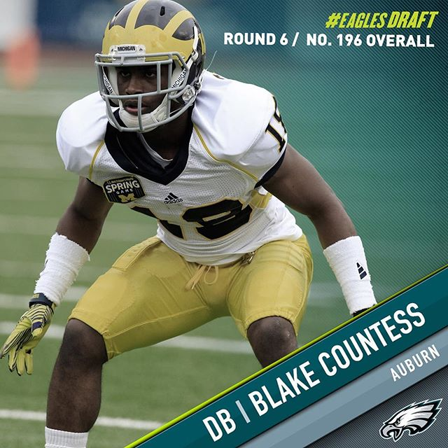 With the 196th pick in the 2016 draft, the select DB Blake Countess.