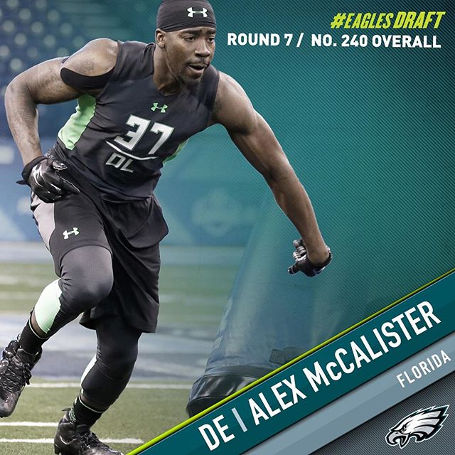 With the 240th pick in the 2016 #NFLDraft, the select DE Alex McCalister.