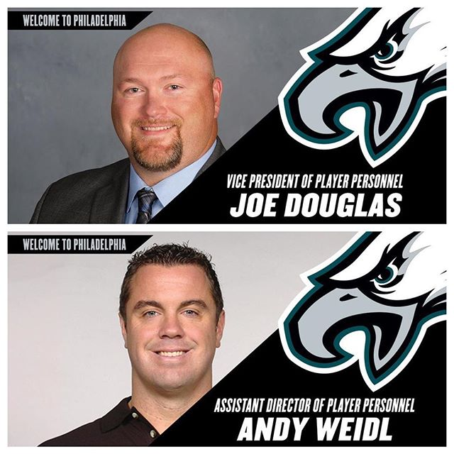 bolster personnel staff with additions of Joe Douglas and Andy Weidl. Click the link in our bio for more info.